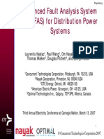 Advanced Fault Analysis System for Distribution Power Systems