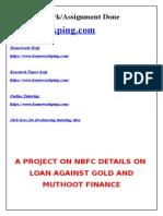 243174738 Project on Muthoot Finance