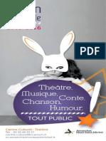 programme de la saison culturelle 2015 / 2016 de la Communauté de Communes Avranches Mont-Saint-Michel