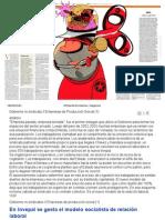 El Mundo Economia y Negocios Artículo 1 día 02/03/2010 En INVEPAL se gesta el modelo socialista de relación laboral