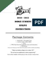 2010 2012 Cummins EFILive AutoCal Install Instructions
