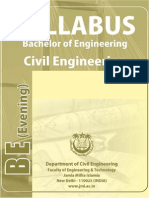B.E. (Civil Engineering) Syllabus
