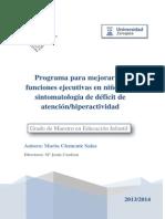 Programa Para Mejorar Las Funciones Ejecutivas