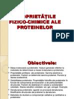 Propriet fizico-chimiceProteine