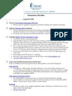 MSHI Orientation Checklist Fall 2015
