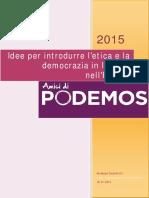 Proposte Obiettivi Politici Podemos Italia