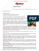 Fabio Ulhoa Coelho - Explicando o Projeto de Codigo Comercial