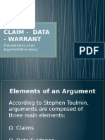 Claim Data Warrant