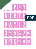 Pink Mini Birthday Bunting