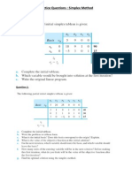 Practice Questions Simplex