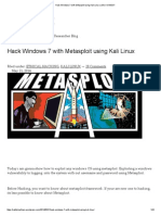 Hack Windows 7 With Metasploit Using Kali Linux _ LINUX DIGEST