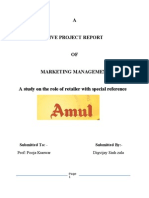 A Live Project Report of Marketing Management