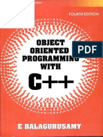 Object Oriented Programming with C++ by E. Balagurusamy