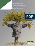 la Fête des Sens 2015 - Avranches (dossier de presse)