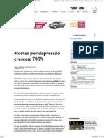 Mortes Por Depressão Crescem 705% - São Paulo - Estadão