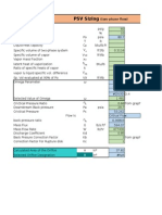 PSV Sizing For Two Phase Flow