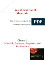 Mechanical Behaviour of Materials Chapters 1-4