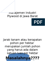 Manajemen Industri Plywood Di Jawa Barat