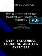 Deep Breathing, Coughing & Legs Exercises