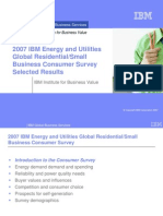 2007 IBM Energy and Utilities Global Residential Small Vusiness Consumer Survey Selected Results