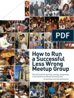 How to Run a Successful Less Wrong Meetup Group
