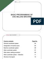 basic cnc programming Milling