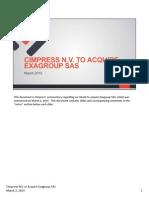 2015_03_02 Exagroup Investor Presentation-VFINAL (1)