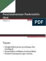 Penatalaksanaan Pankreatitis Akut