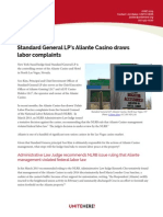 Standard General LPs Aliante Casino Draws Labor Complaints-UNITE HERE-6415