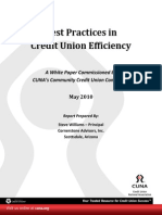 Best Practices in Credit Union