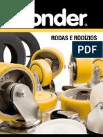 Vonder Rodizio Giratorio Com Freio Folder Da Linha de Rodizios 696802