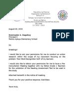 Letter Permission