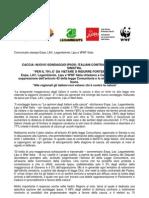 Comunicato Stampa Enpa, LAV, Legambiente, Lipu e
