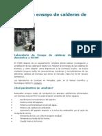 Banco de Ensayo de Calderas de Biomasa