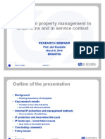 Intellectual Property Management in Small Firms And