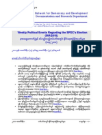 Weekly Political Events Regarding the SPDC's Election (004-2010)