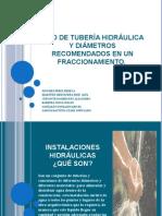 Tipo de Tubería Hidráulica y Diámetros Recomendados en Un Fraccionamiento