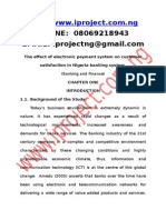 The Effect of Electronic Payment System on Customer Satisfaction in Nigeria Banking System