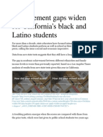 Dr. Frank Talamantes,Ph.D, - Achievement gaps widen for California's black and Latino students.pdf