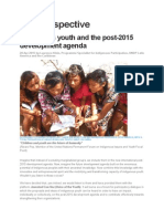 Indigenous Youth and the Post-2015 Development Agenda