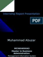 MBA (MIS) Internship Presentations