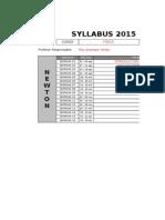 Syllabus -Pre - f