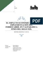 """historia regional de valparaíso """"el Ferrocarril"""""""