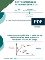 Cinetica y Mecanismos de Sistemas Hidrometalurgicos