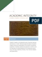Sunday School Academic Integrity Policy