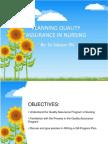 Planning Quality Assurance in Nursing