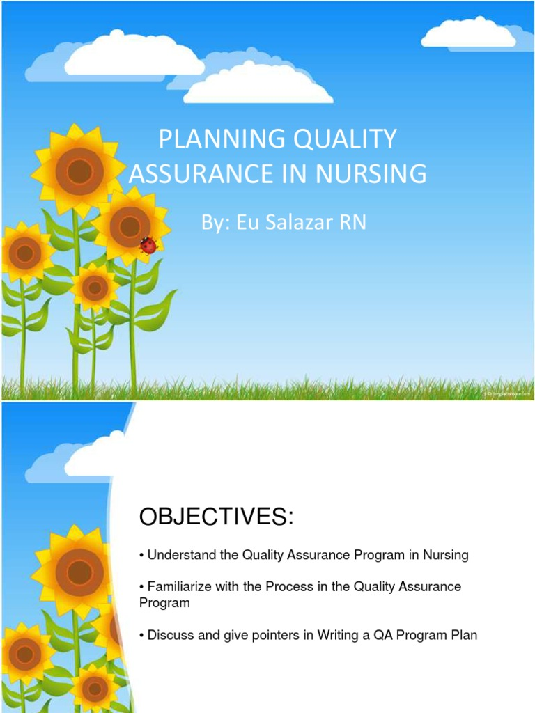 Assurance dissertation in nursing quality