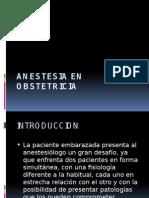Anestesia en Obstetric