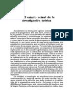 (098-126 ) I. 3. El Estado Actual de La Investigación