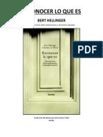 Reconocer Lo Que Es Bert Hellinger